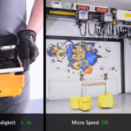 Carroponte con Microspeed per movimenti lenti