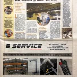Sulla Gazzetta di Parma con B-SERVICE